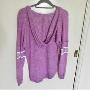 PINK Victoria's Secret Tops - PINK Purple Pullover Long Sleeved Hooded Tee